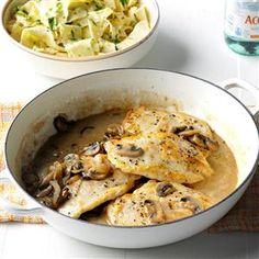 Contest-Winning Chicken with Mushroom Sauce Recipe
