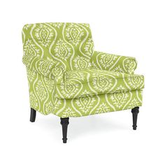 Classic Club Chair in Mayan Ikat Kiwi | Fine Furniture, Chairs and Chaises from Company C