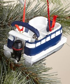 Another great find on #zulily! Pontoon Boat Ornament #zulilyfinds