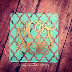 Mongrammed Acrylic Coaster  Monogram by SimplySouthernChics