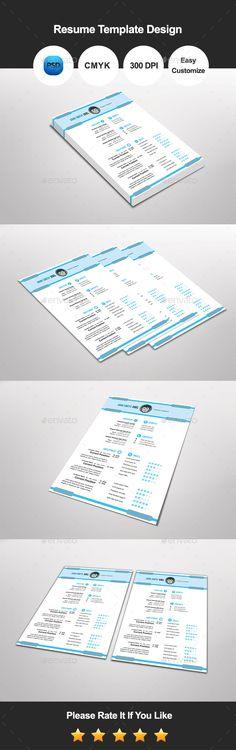 Clean Resume Resume cv, Cv template and Modern resume - clean resume design