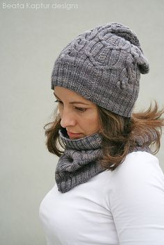 Ravelry: Slouchy Double Cabled Set pattern by Beata Kaptur