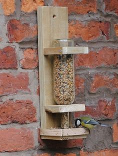 Upcycle Wine Bottle Bird Feeder - Click image to find more hot Pinterest pins