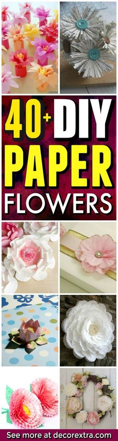 DIY Paper Flower Tutorials You Must See! Today we present you one collection of 40+ DIY Paper Flower Craft Ideas offers inspiring ideas. Trying to make paper flowers is so easy and fun. You only need paper and scissors + maybe a few other supplies. Paper Flowers are amazing projects that you can do at home and a wonderful way … #artsandcraftsforkidstodoathome