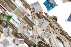Flying Books Over Rua Das Flores, Porto (3)