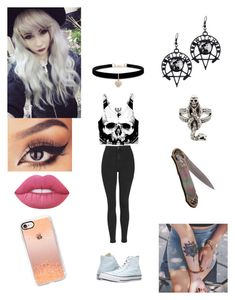 """""""Untitled #285"""" by swegsuga on Polyvore featuring Topshop, memento, Converse, Lime Crime, Casetify, Betsey Johnson and Hot Topic"""