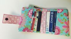How to sew a Kraft tex wallet - free pattern - YouTube