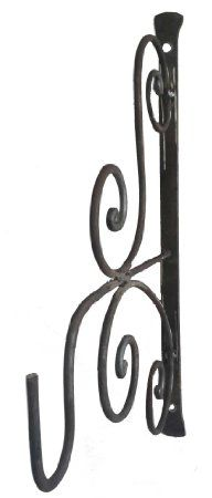 Amazon.com : Rustic Wrought Iron Scroll Garden Wall Bracket Plants Hook  Baskets Lanterns :
