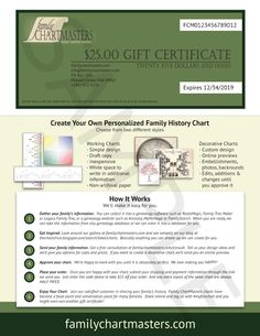 Certificate Format Genealogy Chart My Roots Gift Certificates Sbook Pages Charts