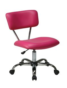 Office Star Pink Vista Task Office Chair