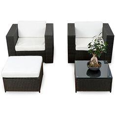 Fantastisch Balkon Garten Lounge Set Polyrattan   Schwarz   Sitzgruppe Garnitur  Gartenmöbel Lounge Möbel