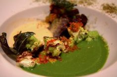 Fascinating vegetarian entree with cheddar fondue at Verbena