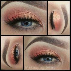 Orange & Gold eyeshadow @ makeupby_mars