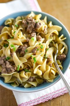 I love, love, love beef stroganoff. It's creamy, savory and loaded with carbs, so obviously, I love it. I've made meatball stroganoff, and classic beef stroganoff, but lately, I find that I really don't have the time or the motivation to make them. Not that they're hard to make, I just find that I want …