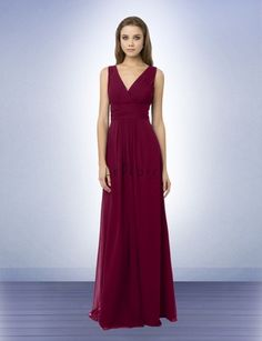 0747702d11a Bridesmaid Dress Style 768 - Bridesmaid Dresses by Bill Levkoff - color wine.  This is