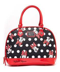 Look at this Red & Black Minnie Mouse Polka Dot Satchel on #zulily today!