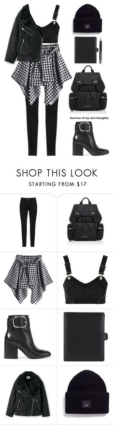"""""""Keep going."""" by aanchal-w ❤ liked on Polyvore featuring Burberry, Topshop, Alexander Wang, FiloFax, Acne Studios and polyvoreeditorial"""