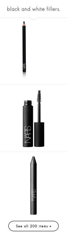 """black and white fillers."" by nathalije ❤ liked on Polyvore featuring beauty products, makeup, eye makeup, eyeliner, beauty, fillers, eyes, cosmetics, black and eye pencil makeup"