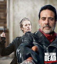 """Carol will take care of Negan.Just look at the flowers Negan!"""" Do it…Do it for Glenn and Abraham! Walking Dead Funny, Walking Dead Season, Fear The Walking Dead, Daryl And Carol, Nerd, Lauren Cohan, Stuff And Thangs, Daryl Dixon, Best Shows Ever"""