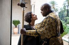 #Ellaria Sand and #Areo Hotah, Captain of the Guard of Doran Martell, Prince of Dorne