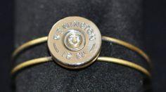 Remington 12 Gauge Shotgun Shell Cuff Bullet Bracelet Swarovski Crystal