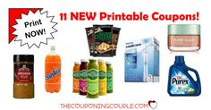 WOW! Check out the 11 NEW Printable Coupons that were released this morning! These are great coupons so PRINT NOW!  Click the link below to get all of the details ► http://www.thecouponingcouple.com/11-new-printable-coupons-10-9-17/ #Coupons #Couponing #CouponCommunity  Visit us at http://www.thecouponingcouple.com for more great posts!