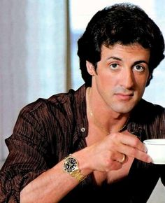 Sylvester #Stallone wearing a #Rolex 18kt #Submariner