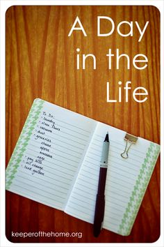 A Day in the Life {Keeper of the Home} of a work at home mom relying on grace to order her days for the glory of God