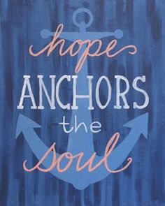 The combination of an inspiring quote, a trendy anchor, and a fresh palette results in a widely appealing canvas design that is sure to be popular. #socialartworking #hopenachorsthesoul #canvasart #inspiration