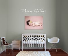 30x40 Wall Canvas in Nursery...want to make a statement.