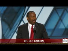 Dr. Ben Carson at Republican National Convention 7/19/2016