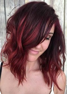 21 amazing dark red hair color ideas dark red highlights lob the beast short bob hairstyles haircuts 2017 africa world shades of red hairred pmusecretfo Choice Image