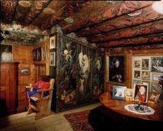 Das Mili Weber-Haus an der Via Dimlej 35 in St. Moritz, Bärenzimmer