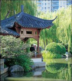 Chinese Garden of Friendship, Darling Harbour. Sydney, NSW Australia