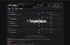 Phpbb Styles - Dark Gaming Theme Design #phpbb #gaming #phpbbstyles