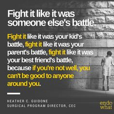 Your health comes first. Fight back against endo. #endometriosis #endowhatfilm #endowarrior