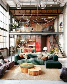 Duplex Loft Inspiration via Loft Industrial Journal