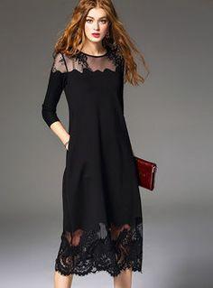 Lace voile patchwork asymmetric brief maxi dress