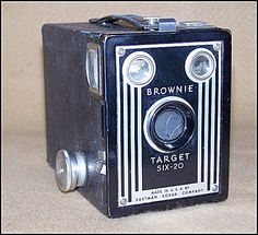 .I had one of these cameras     I  had an Kodiak Brownie as my first camera