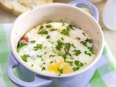 Sun Dried Tomato and Herb Baked Eggs | Ingredients 1 Tbsp. sundried tomatoes 1 Tsp. olive oil 2 eggs ½ Tsp. fresh basil ½ Tsp. fresh parsley Preparation 1Preheat oven to 3502Cover the inside of one ramekin or oven safe dish with olive oil.3Line the bottom of the dish with sundried tomatoes and break two eggs on top. Sprinkle with fresh herbs.4Bake uncovered []