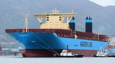File photo shows Maersk Triple-E float-out at the Daewoo Shipbuilding & Marine Engineering shipyard in South Korea. Photos: Vladimir Tonie
