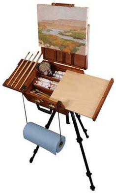 Sienna All in One Plein Air Artist Pochade Box by Craftech Art Studio Design, Art Studio At Home, Studio Room, Plein Air Easel, Pochade Box, Drawing Desk, Art Studio Organization, Art Easel, Artist Supplies