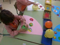 Pintem amb globus!!!