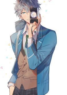 Uploaded by ad astra. Find images and videos about anime boy and ensemble stars on We Heart It - the app to get lost in what you love. Anime Sexy, Garçon Anime Hot, Manga Anime, Boys Anime, Cool Anime Guys, Manga Boy, I Love Anime, Anime Boy Smile, Anime Style