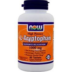 Better Quality Save U more! 60-120 NOW L-Tryptophan (1000mg) 60 tabs/pack  Better Quality Save U more #NOW
