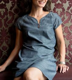 Organic Chambray Shift Dress by National Picnic Clothing on Scoutmob Shoppe