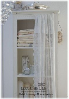 lace in the bathroom: