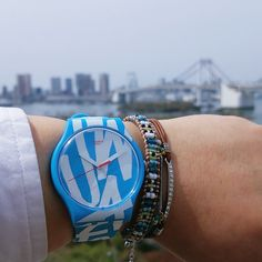 Swatch WHITE IN BLUE ©yoshi_textile