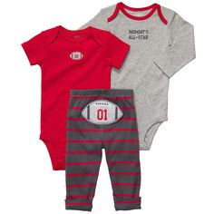 """Carter's Boys 3 Piece Turn Me Around Set with Long Sleeve Bodysuit, Short Sleeve Bodysuit, and Pant - Carters - Babies """"R"""" Us"""