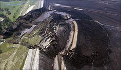 an AMAZING landslide in the Yallourn open cast mine in Australia. from The Landslide Blog- http://blogs.agu.org/landslideblog/
